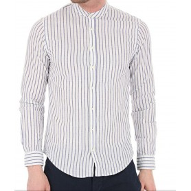 SUN68 shirt korea navy blue stripes