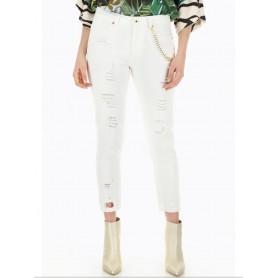 DIXIE jeans skinny-fit con strappi BIANCO