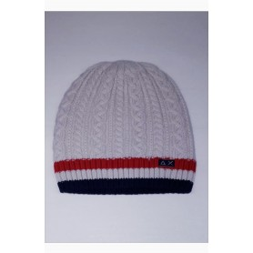 SUN68 cappello UOMO lana CABLE STRIPES biano panna