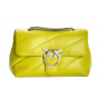 PINKO love classic puff maxi quilt LIME