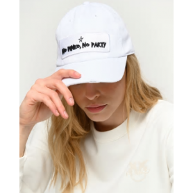 PINKO cappello NO PINKO NO PARTY white