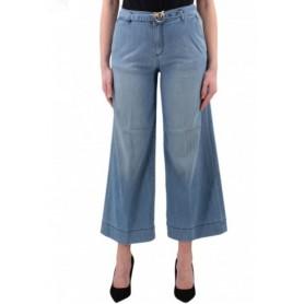 PINKO jeans a palazzo con cintura PEGGY 4 blue