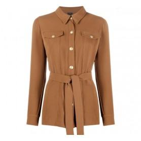 PINKO giacca camicia GRAZIOSO marrone