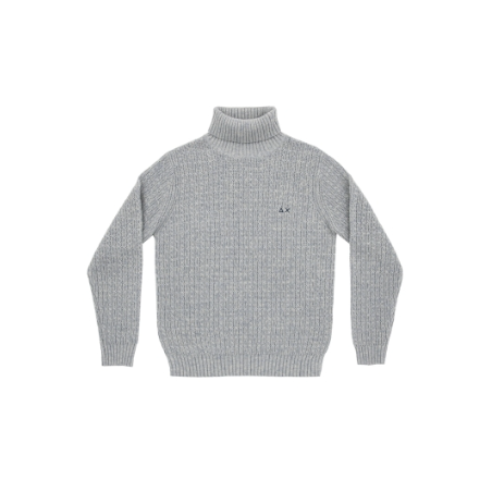 SUN68 man wool turtle new cable panna